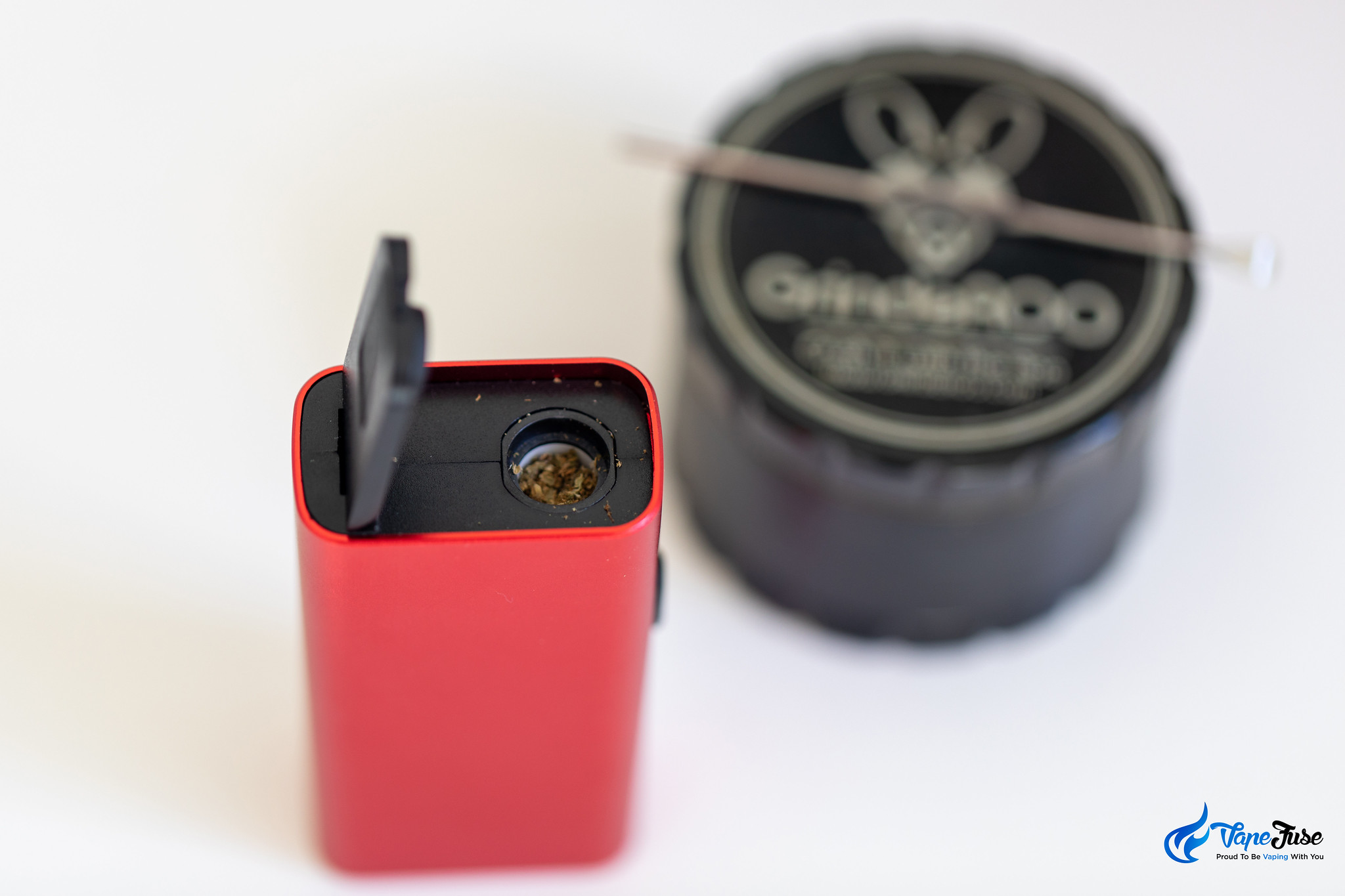 Vaporizer Chamber packed with ground herbs