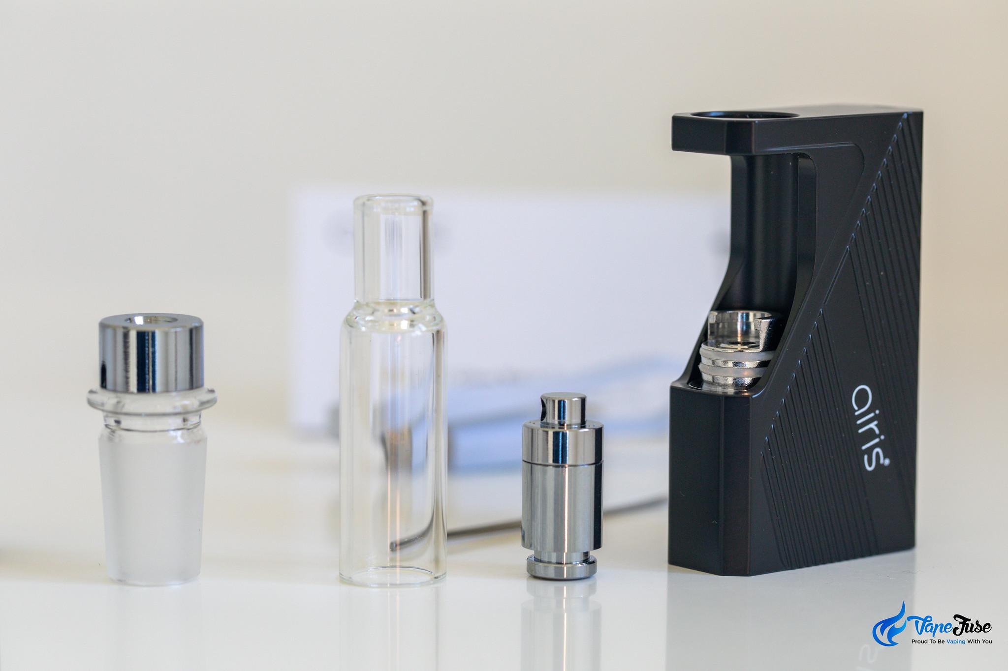 Airis Dabble Glass Bong Compatible Wax Vaporizer with quartz coil pod