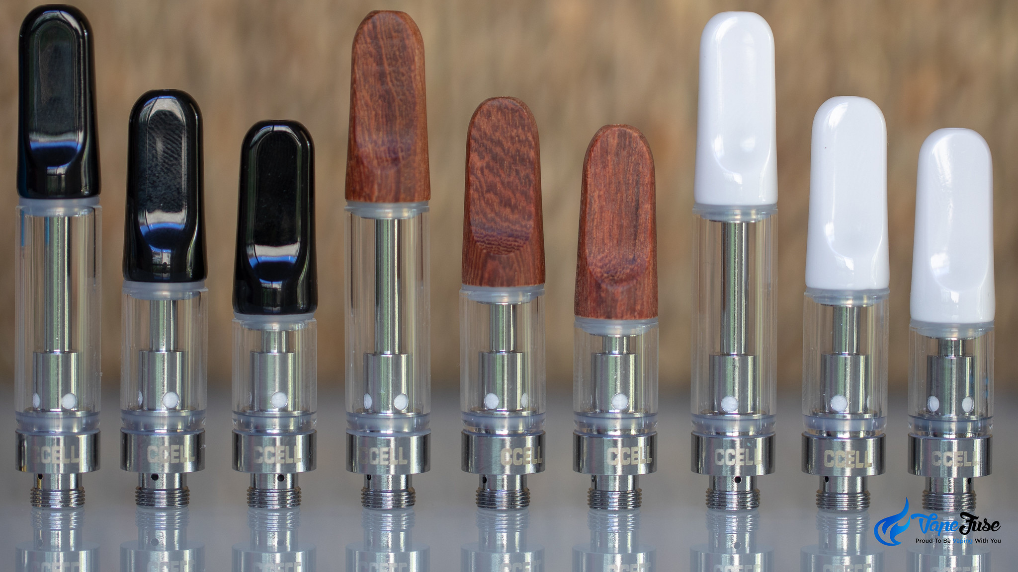 TH2 carts in 3 sizes and 3 sorts of mouthpieces