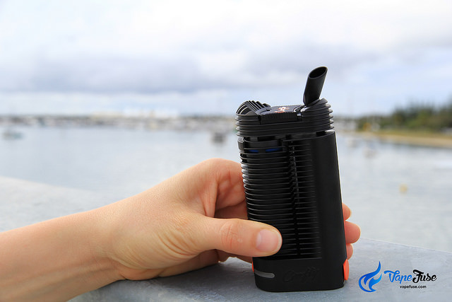 Storz and Bickel Crafty Vape at the lake