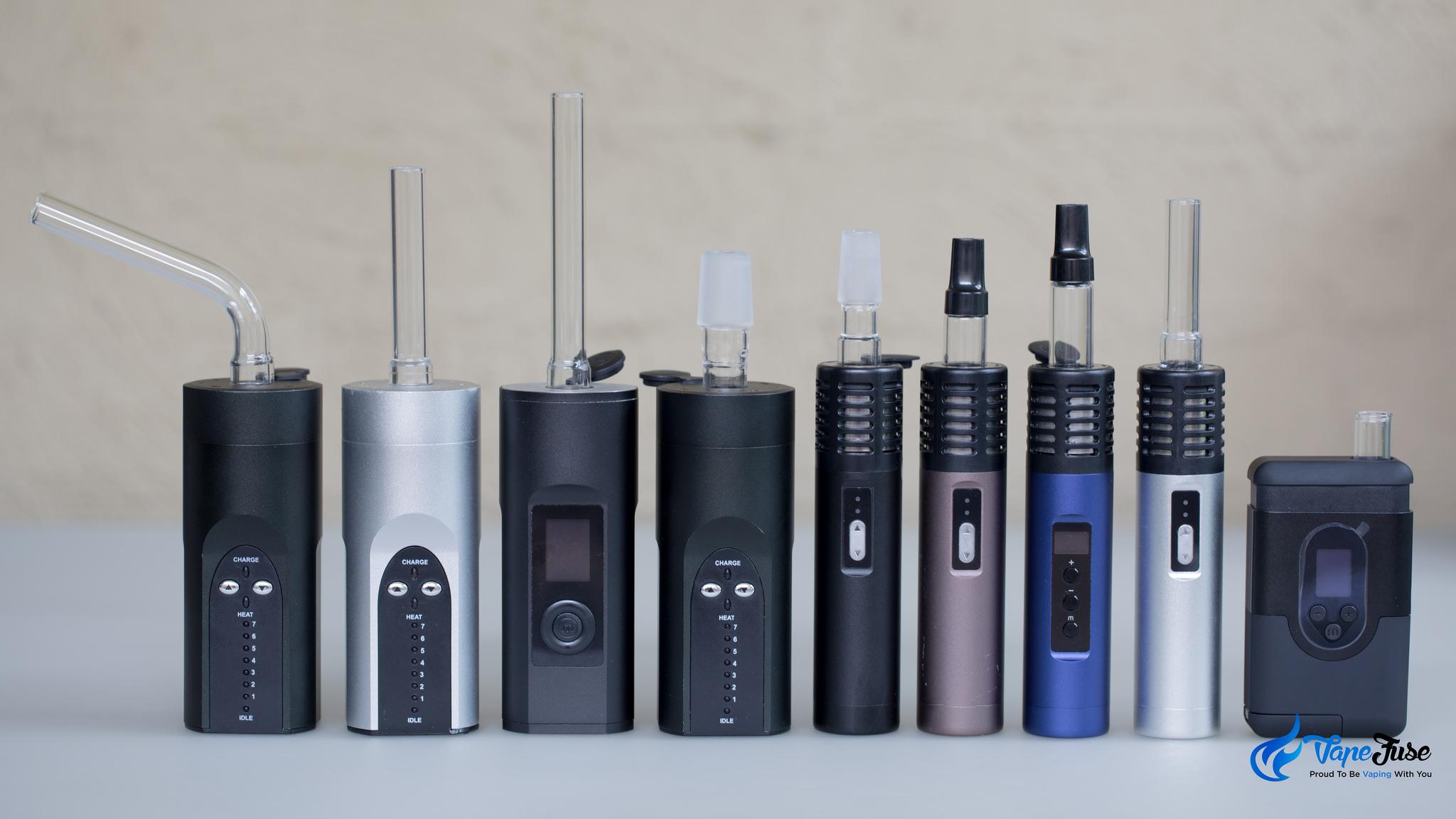 Full range of Arzier portable vaporziers
