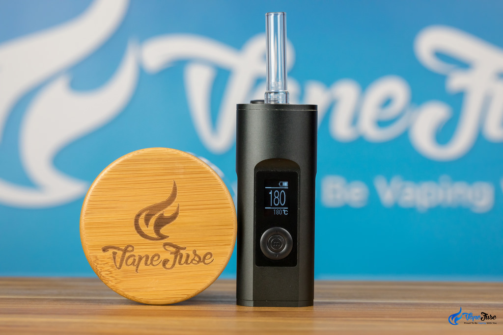 Arizer Solo II Carbon Black with VapeFuse Herb Jar -Bamboo Lid