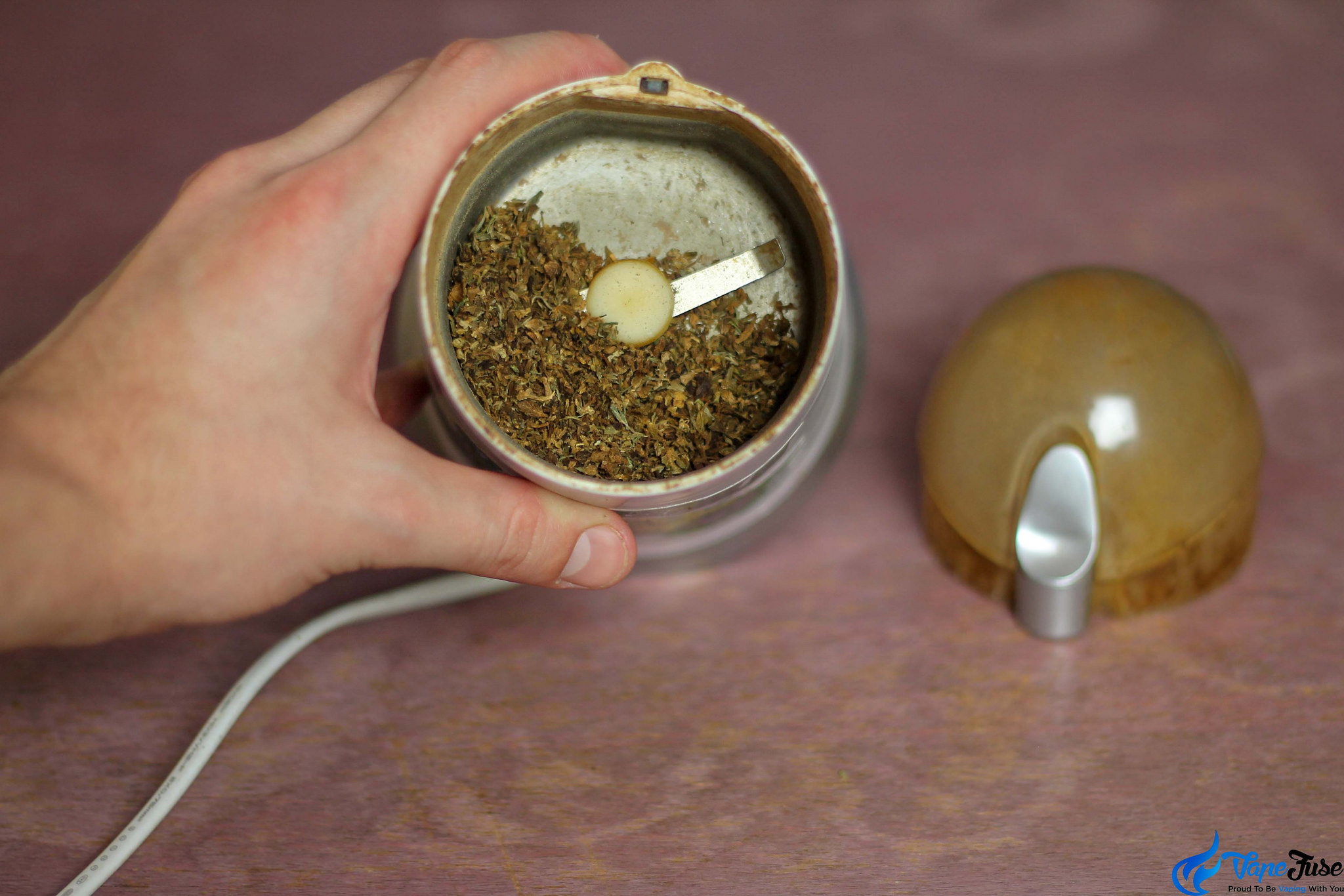 AVB in coffee grinder
