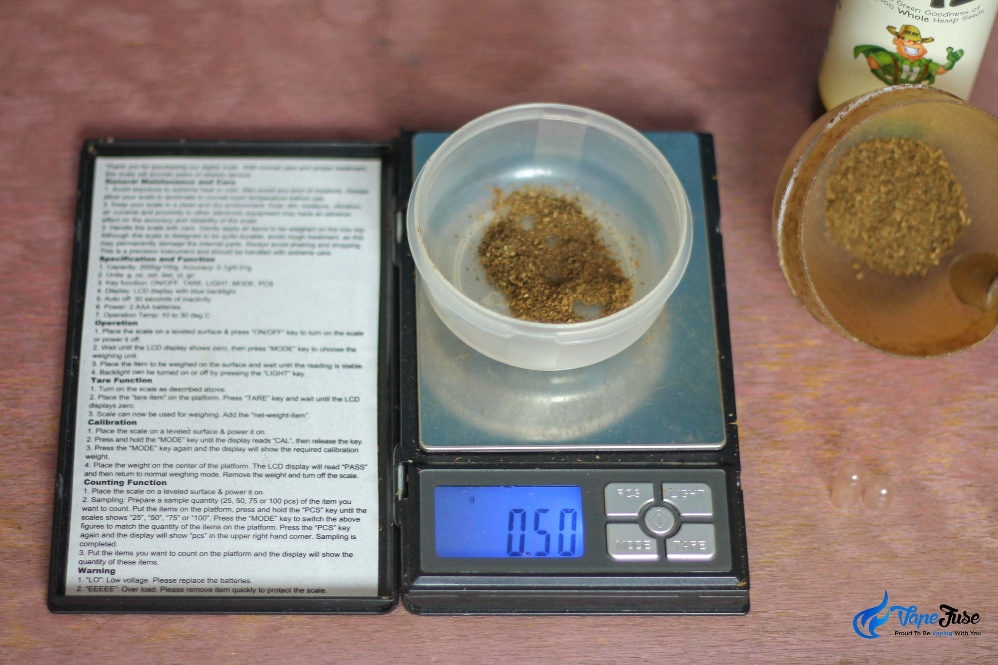 Cannabis AVB on scales