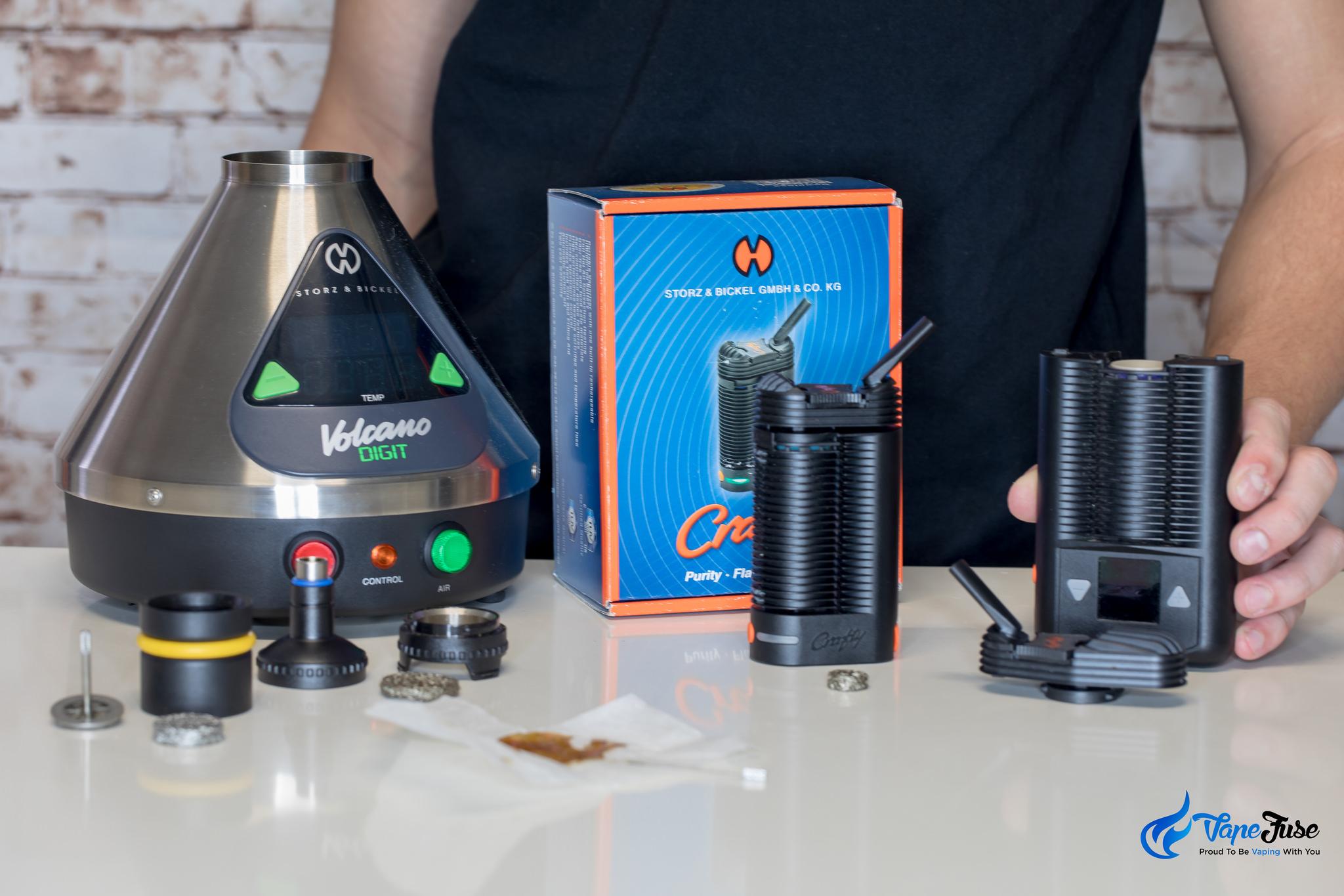 Storz & Bickel line of vaporizers using a liquid pad
