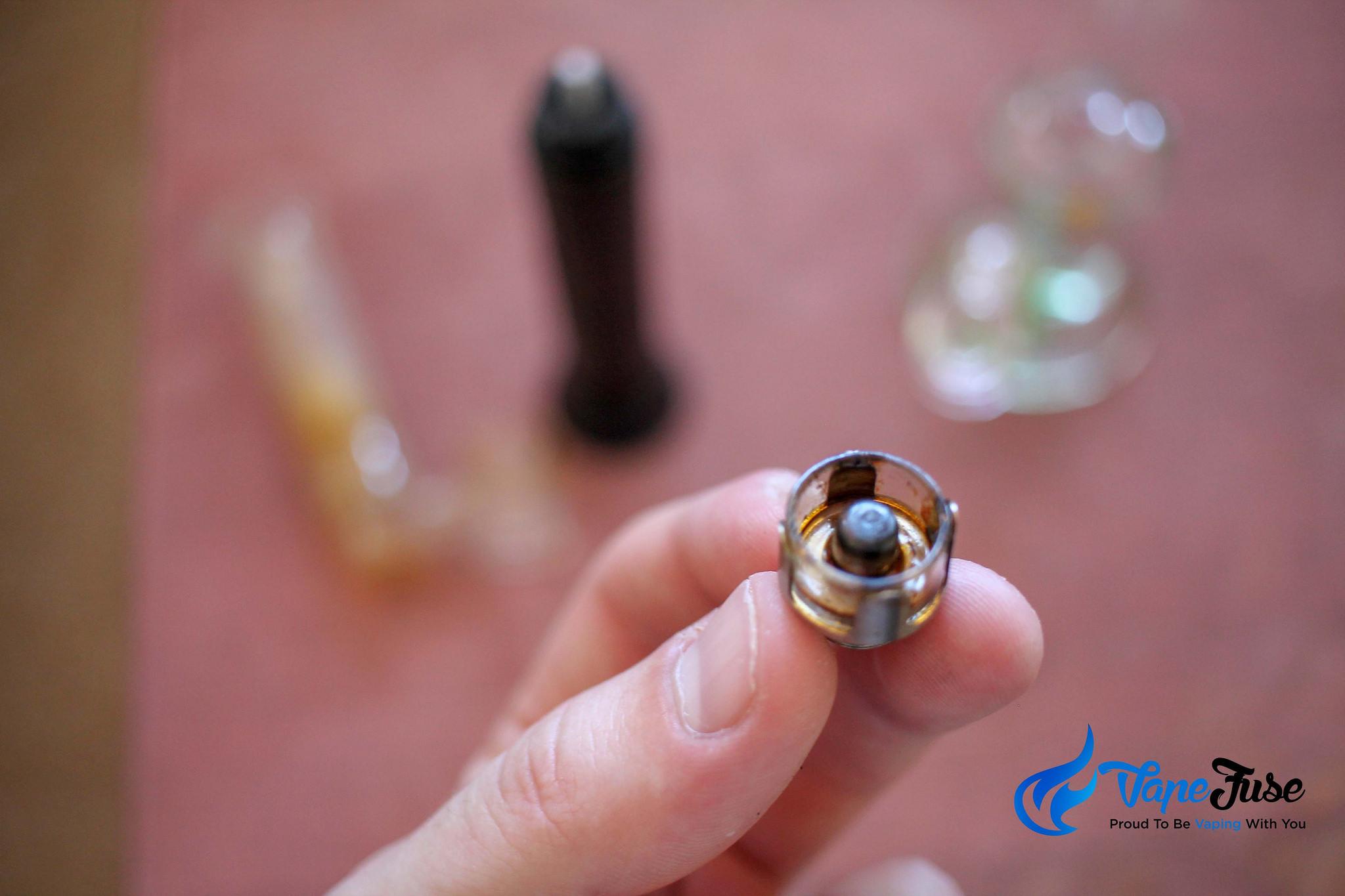 Wax residue on enail atomizer