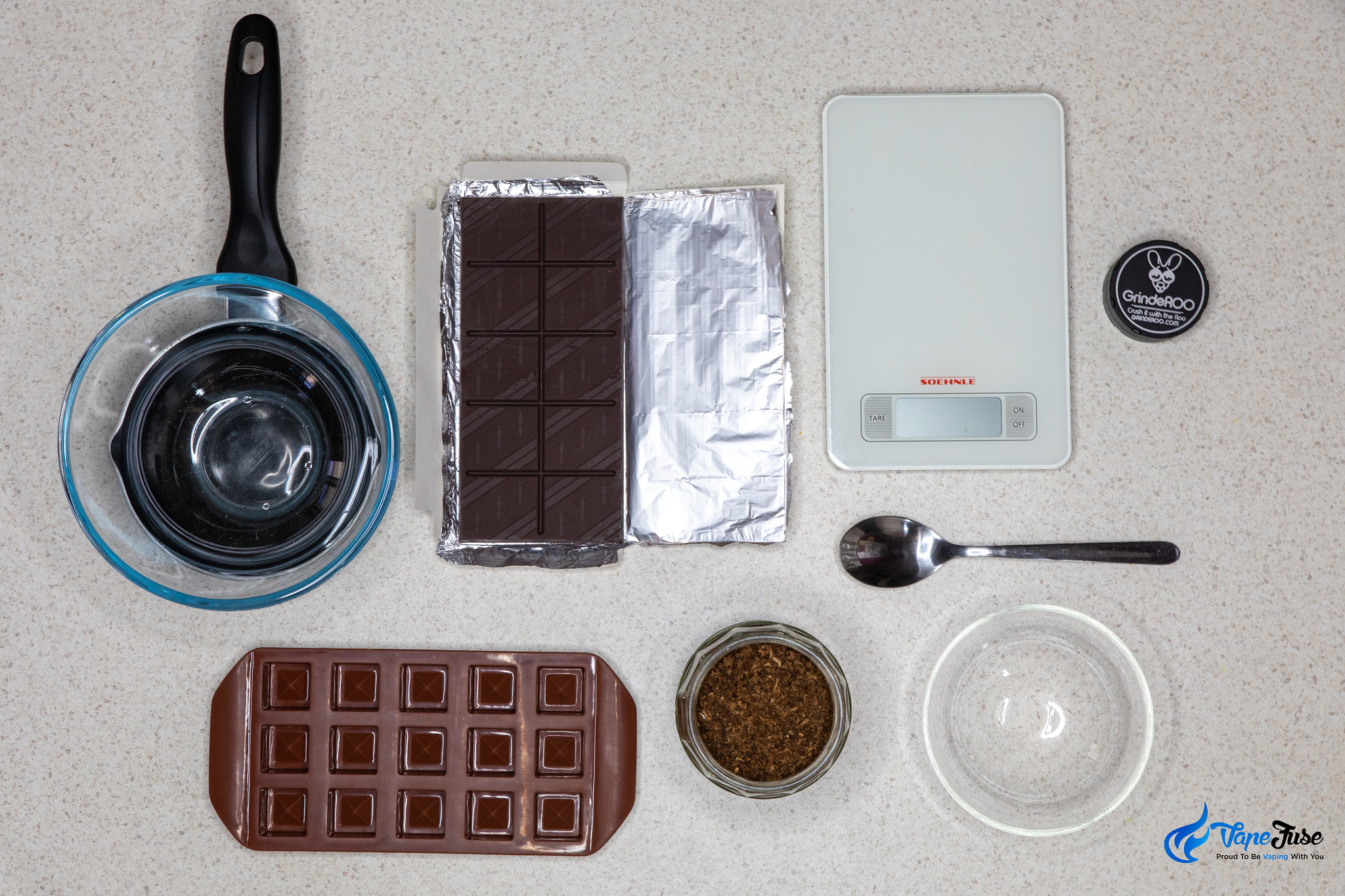 What you need to make Cannabis AVB infused chocolate