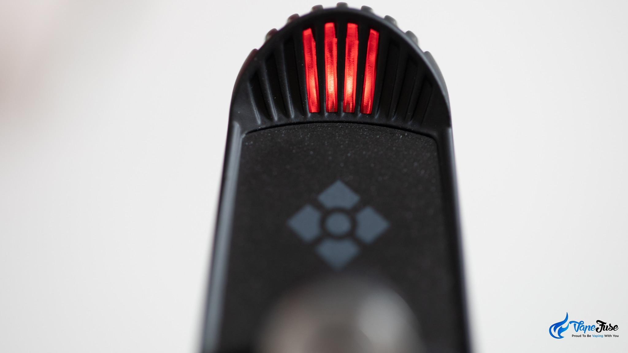 Wolkenkraft FX+ Vaporizer Top LED Close Red