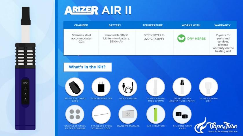 Arizer Air II Vaporizer Graphics