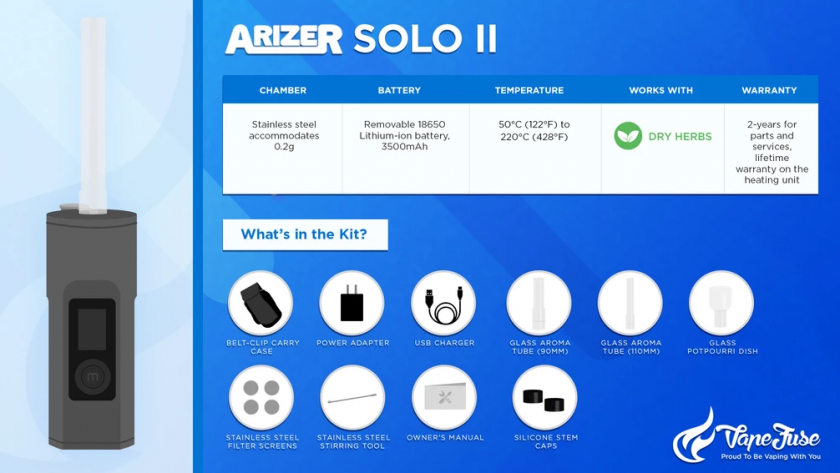 Arizer Solo II Vaporizer Graphics